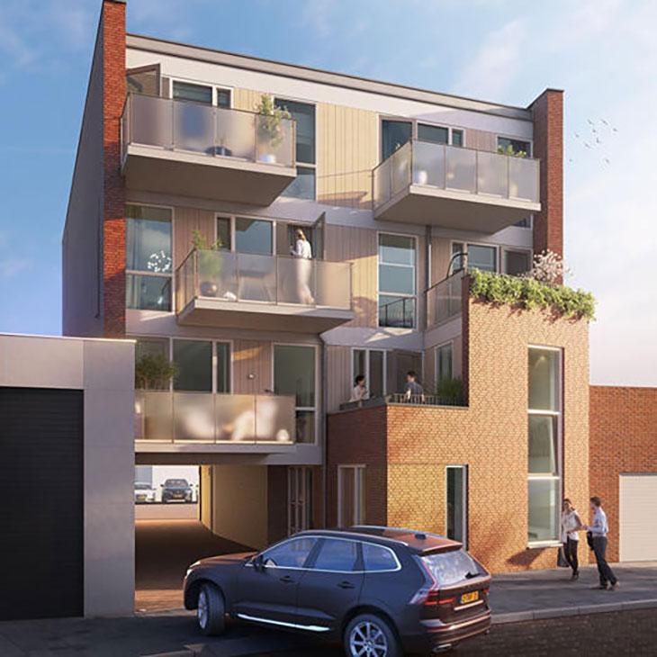 Wooncomplex van 6 appartementen erbij in Oranjestraat Uden
